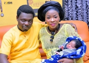 Photos from actor Kunle Afod's son's christening